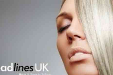 Headlines UK - T Section Highlights With Cut and Blow Dry Plus Deep Conditioning Treatment - Save 73%