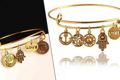 Richardson Group - 14K Gold Plated Vintage Friends Charm Bracelets in 8 Styles, Buy 1 or 2 - Save 40%