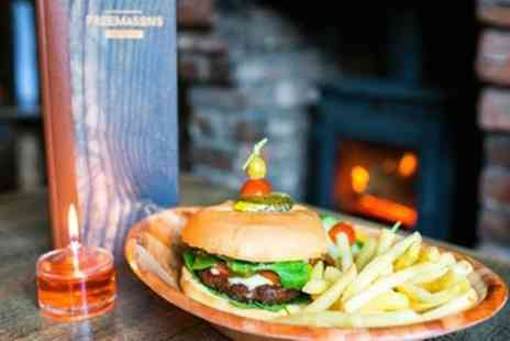 Freemasons Pub & Smokehouse - Burger Meal with Fries and a Drink for Two or Four - Save 39%
