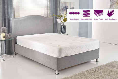 My Mattress Online - Single luxury Cool Blue tufted Bonnell spring mattress - Save 80%