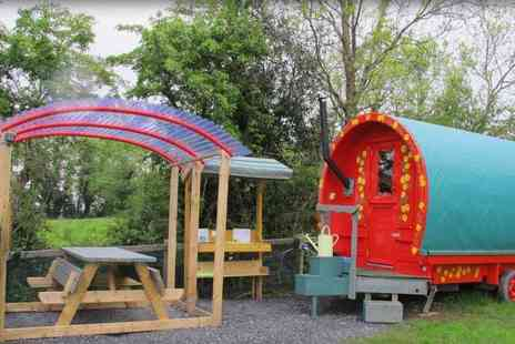 Wildflower Glamping - Two night, mid week glamping yurt, wagon or hut stay for two - Save 0%
