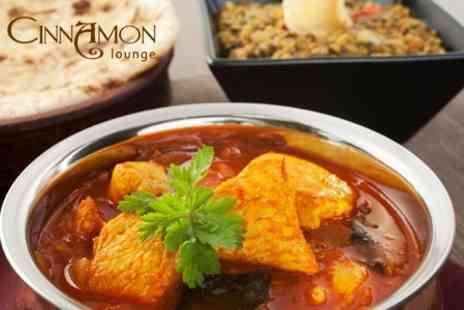 The Cinnamon Lounge - Indian Meal With Starter, Main and Side For Two for £16.50 - Save 62%