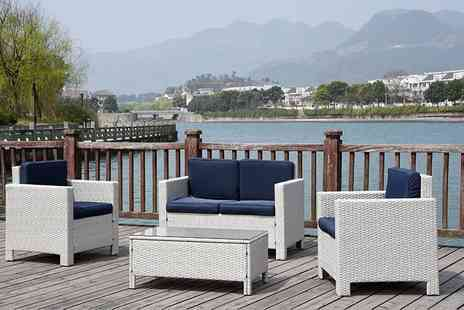 UK Leisure World - Queen Vienna luxury four seater rattan garden set - Save 69%
