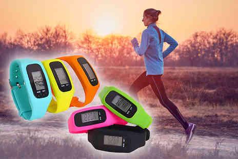 Toy Meets World - 4 in 1 fitness tracker choose from blue, yellow, orange, pink, green or black - Save 74%