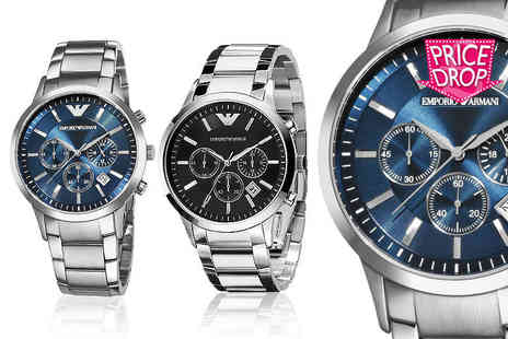 Wristy Business - Armani Mens watch choose from two designs - Save 59%