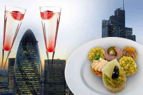 Sky Lounge - Cocktails and canapes for two at The Sky Lounge in London £19 - 68%