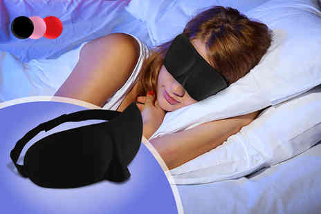 Alvis Fashion - Pack of two sleeping masks choose from black, pink and red - Save 85%