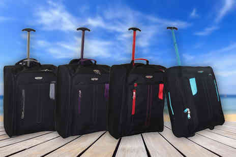 Pearl Info - Cabin approved wheelie hand luggage choose from four colours - Save 81%