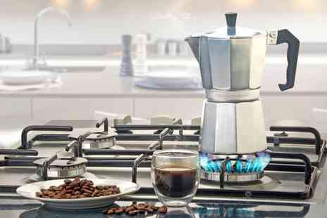 Groupon Goods Global GmbH - Cooks Professional Stove Top Aluminium Espresso Maker - Save 80%