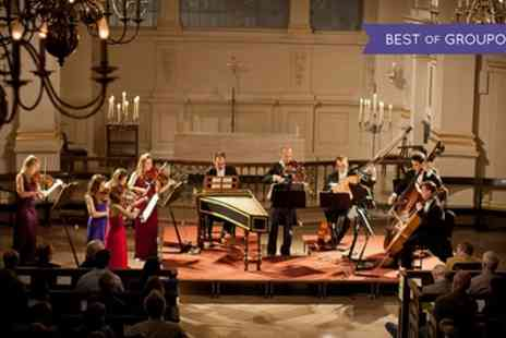 Candlelight Concerts - One ticket to see London Concertante perform Vivaldi Concertos by Candlelight on 28 April - Save 48%