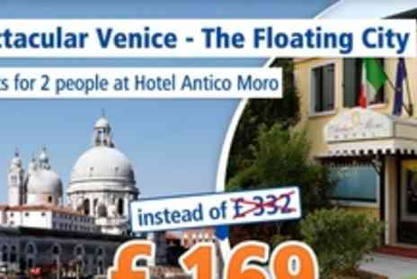 Hotel Antico Moro - Venice in the summertime short stay for 2 people - Save 49%