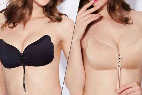 Intradify - Invisible Silicone Bra Two Colours Four Sizes - Save 60%