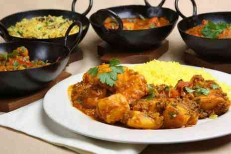 Masala - Authentic Indian dining for two people including a main dish and any rice or naan bread each - Save 44%