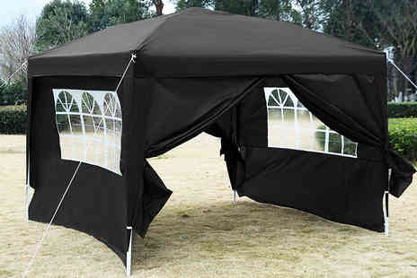 FDS Corporation - 3x3m pop up gazebo with carry bag choose from five colours - Save 53%