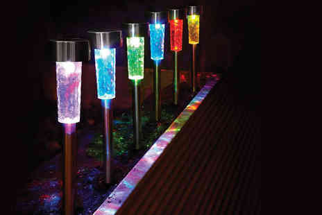 Easylife - Cordless colour changing solar garden lights - Save 44%