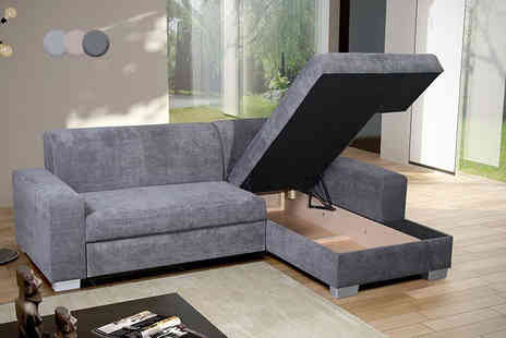 IT Ideas - Corner sofa storage bed choose from three colours - Save 63%
