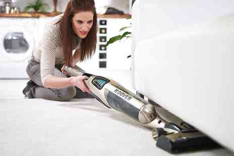 Groupon Goods Global GmbH - Hoover Cordless Stick Vacuum with a 60 Minute Run Time UNP252C With Free Delivery - Save 64%