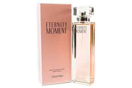 Groupon Goods Global GmbH - 100ml Bottle of Calvin Klein Eternity Moment EDP for Women - Save 62%
