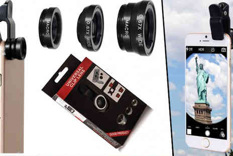 TigerZilla Trading - Universal 3 in 1 Clip On Phone Camera Lens Kit - Save 69%