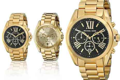 WRISTY BUSINESS - Michael Kors Bradshaw watch choose from two stunning designs - Save 43%