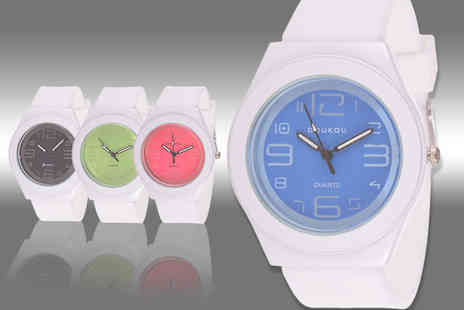 Fakurma - Doukou unisex silicone rubber watch - Save 70%