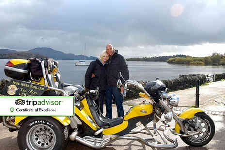 Trike Tours Scotland - One hour trike tour for two people including equipment, photos, hot drink and shortbread - Save 60%