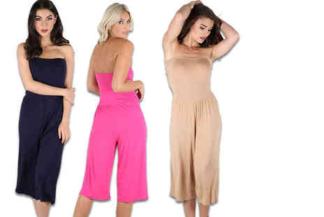 Be Jealous - Strapless 3/4 length playsuit select from nine colours - Save 65%