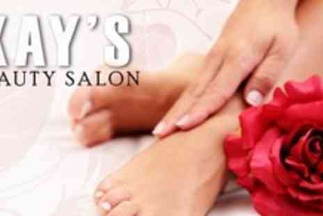 Kays Beauty Salon - Manicure or Pedicure or Both - Save 60%