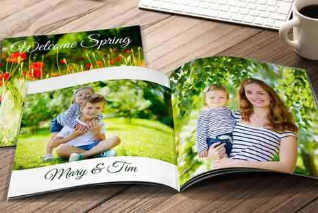 Printerpix - 20cm x 20cm or A4 Personalised Softcover Photobook - Save 87%