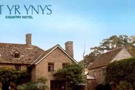 Allt Yr Ynys Country Hotel - In Herefordshire One Night Stay For Two With Afternoon Tea and Breakfast - Save 58%