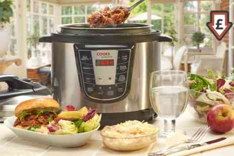 Groupon Goods Global GmbH - Cooks Professional 900W Digital Pressure Multi Cooker - Save 70%