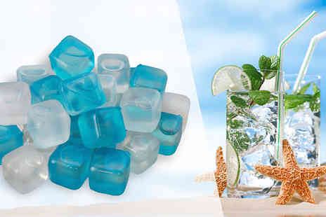 Shop Monk - Pack of 18 or 32 Reusable Fast Freezing Ice Cubes Available in Two Colours - Save 29%