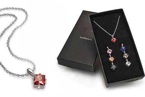 Lily Spencer - Seven Squared Pendants With Crystals - Save 90%