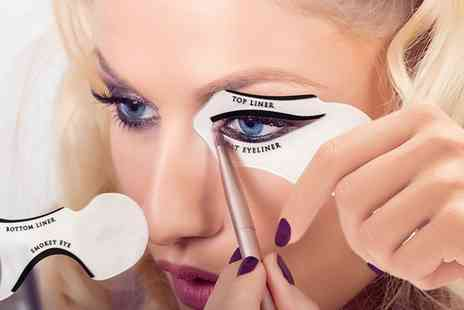 Groupon Goods Global GmbH - One, Two, Three or Four Eyeliner Stencils Sets - Save 70%