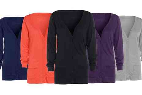 Groupon Goods Global GmbH - Womens Button Up Cardigan with Pockets - Save 0%