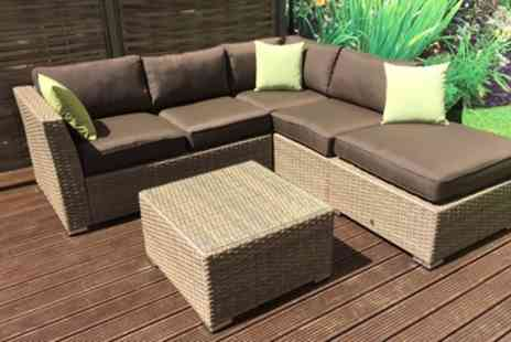 Groupon Goods Global GmbH - Minnie Weave Corner Garden Sofa - Save 0%