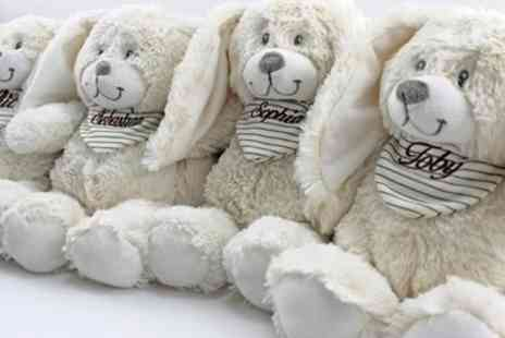 Zibizi The Baby Gift Store - One or Two Plush Bunnies with Embroidered Name - Save 43%