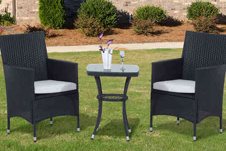 MHStar Uk - 3 Piece Rattan Dining Set in 2 Colours - Save 63%