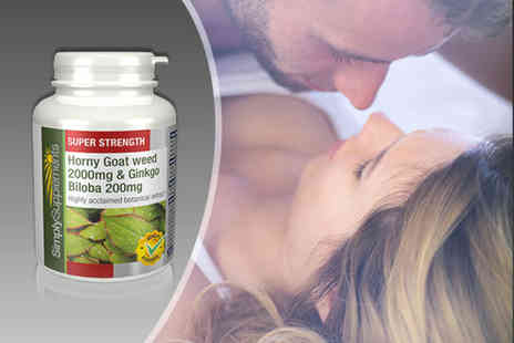 Simply Supplements - One or two month supply of horny goat weed and ginkgo biloba capsules - Save 49%