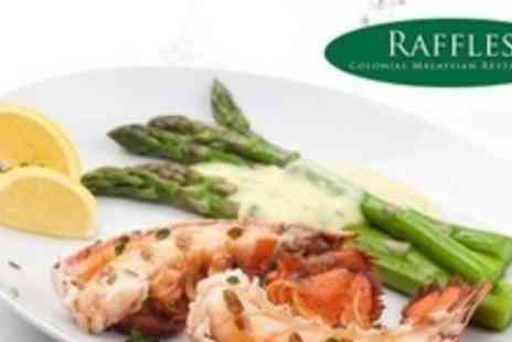 Raffles - Three Course Malaysian Meal With Lobster Option For Two - Save 60%