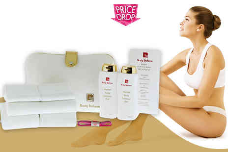 Body Reform - Super contour treatment pack including thermal wraps and herbal gel - Save 85%