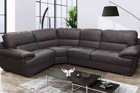 Groupon Goods Global GmbH - San Remo Bonded Leather Sofas With Free Delivery - Save 56%