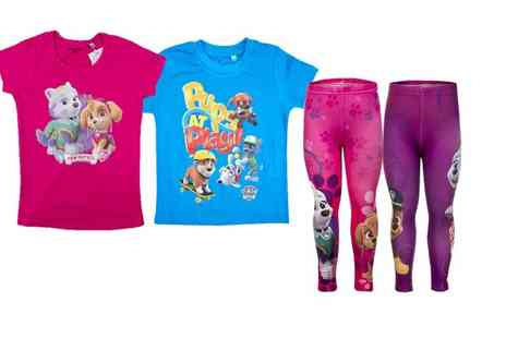 Groupon Goods Global GmbH - Paw Patrol Themed Kids Pyjamas, T Shirts, Onesies or Leggings in Choice of Sizes and Designs - Save 50%