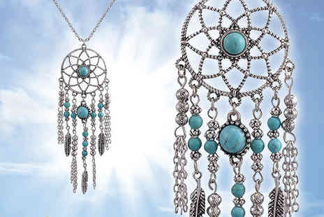 Your Ideal Gift - Dream catcher pendant necklace - Save 73%