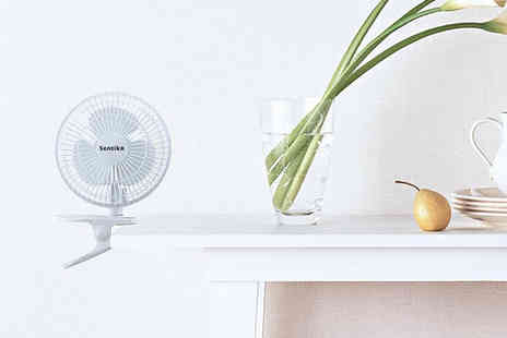 Zoozio - 2 in 1 clip and desk fan - Save 62%