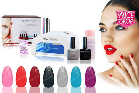 14 Day Manicure - Starter kit with one, two, four or eight colours - Save 90%
