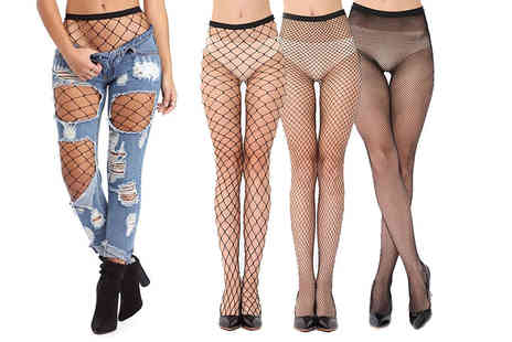 Be Jealous - Three pack of fishnet tights choose from three styles - Save 66%