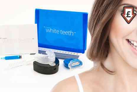 Groupon Goods Global GmbH - I Want White Teeth Nine Piece LED Light Activated Peroxide Free Home Teeth Whitening Kit - Save 90%