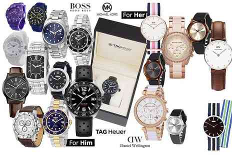 Brand Logic - Mystery watch for him or her from Moon, Tag Heuer, Hugo Boss, Daniel Wellington, Michael Kors, Armani and more - Save 0%
