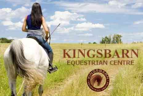 Kingsbarn Equestrian Centre - Two Hour Riding Lesson, Trek or Hack for £20 - Save 67%